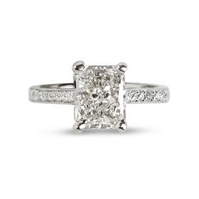 Radiant Cut Diamond Engagement Ring top view