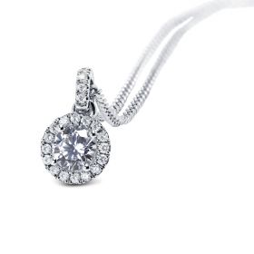 White Gold Heart Shape Diamond Pendant
