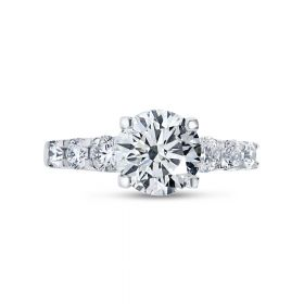 7 stones Diamond Engagement Ring top view