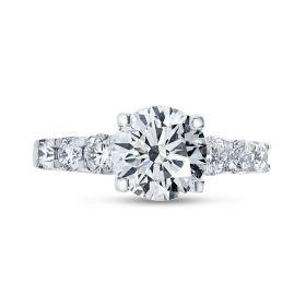 7 stones Diamond Engagement Ring top view