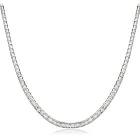 Channel Set Baguette Necklace