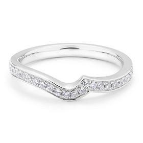 Twist Pave Diamond Wedding Band Pave Setting