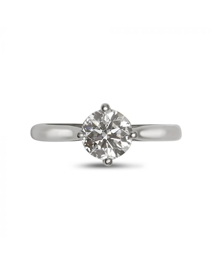 Compass Setting Solitaire Diamond Engagement Ring