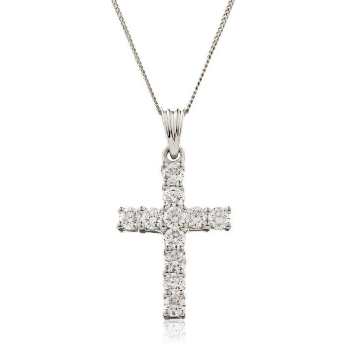 1ct Diamond Cross Pendant