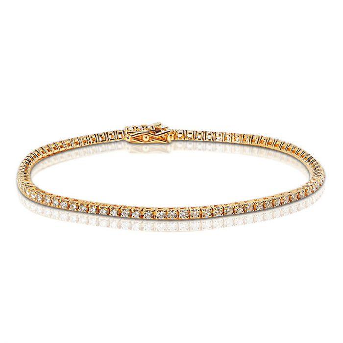 2 Carat Rose Gold Diamond Tennis Bracelet
