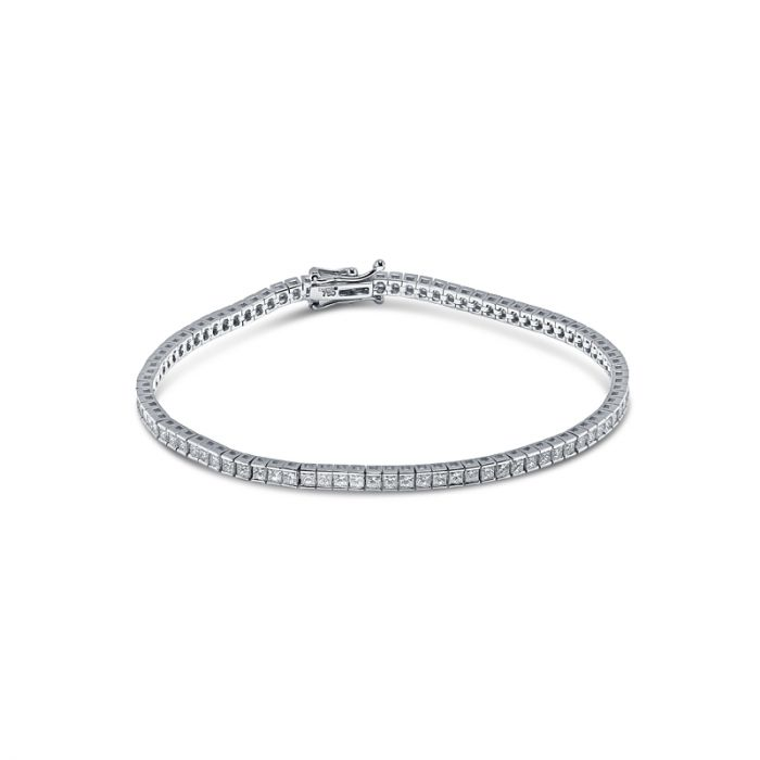4 Carat Princess Cut Diamond Tennis Bracelet