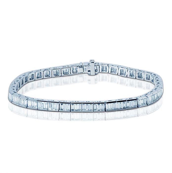 5 Carat Baguette Cut Diamond Tennis Bracelet