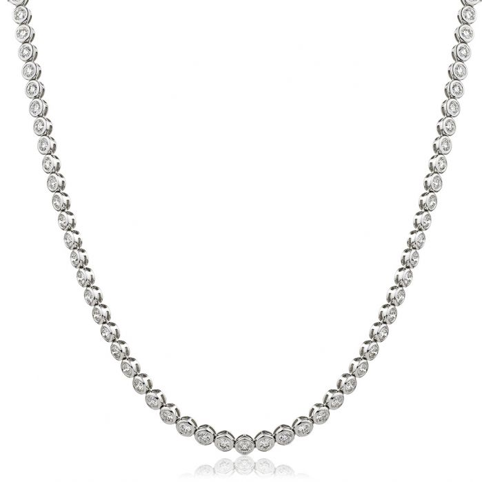 8ct Rubover Tennis Necklace