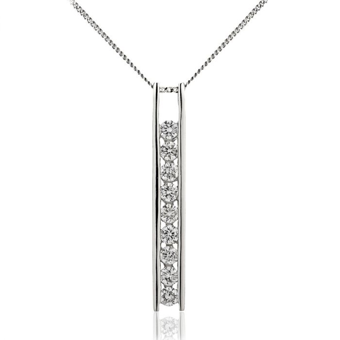 Bar Set 9 Stone Drops Necklace