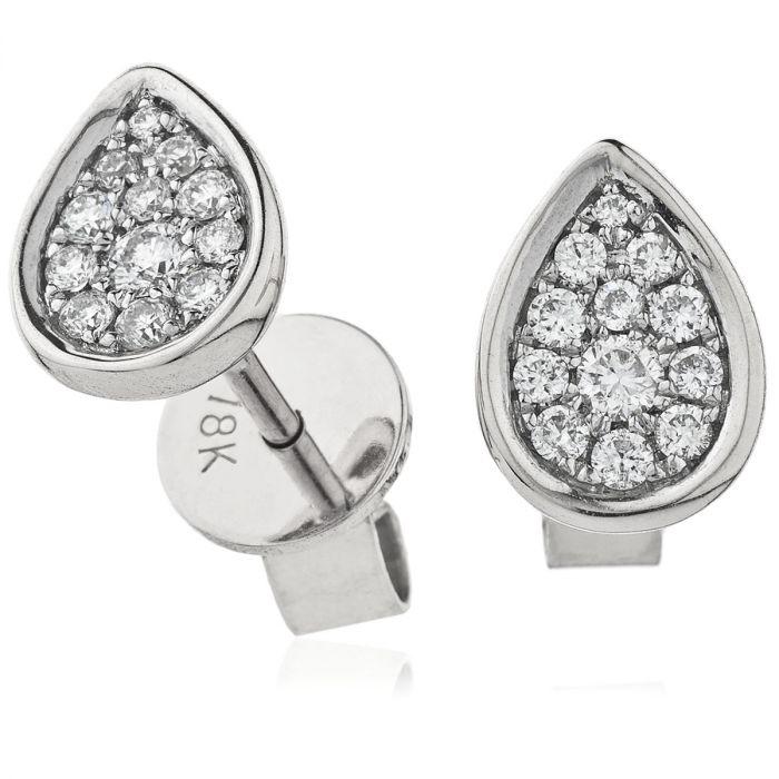 Pear Shape Diamond Earring Studs