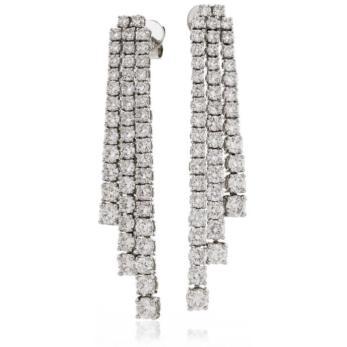 Three Lengths Diamond Drop Earrings