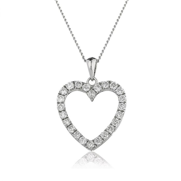 Classic Round Micro Set Diamond Heart Pendant