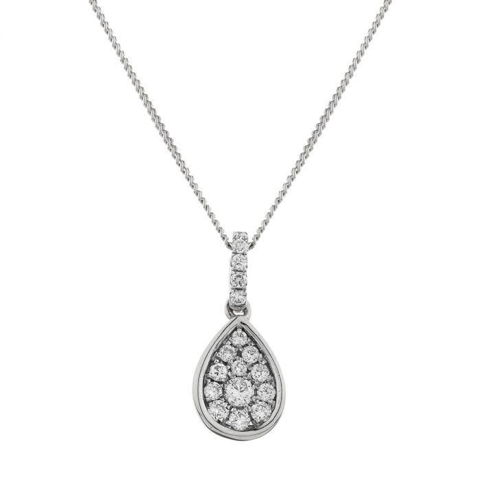 Pear Pave Diamond Necklace