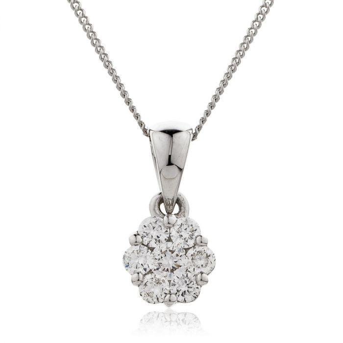 Small Pave Set Diamond Pendant