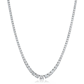 Graduating 14ct Diamond Necklace