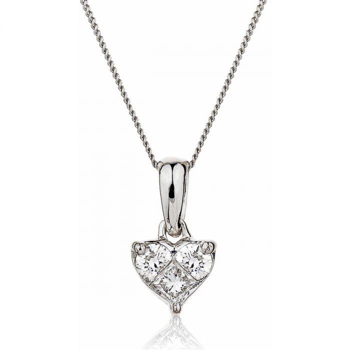 Princess Cut Diamond Pendant Design