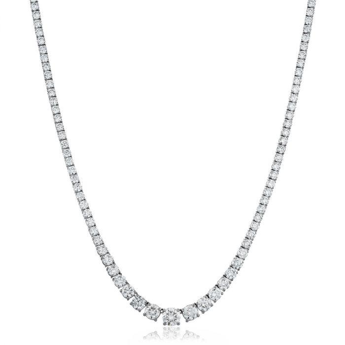 Graduating 7ct Diamond Necklace