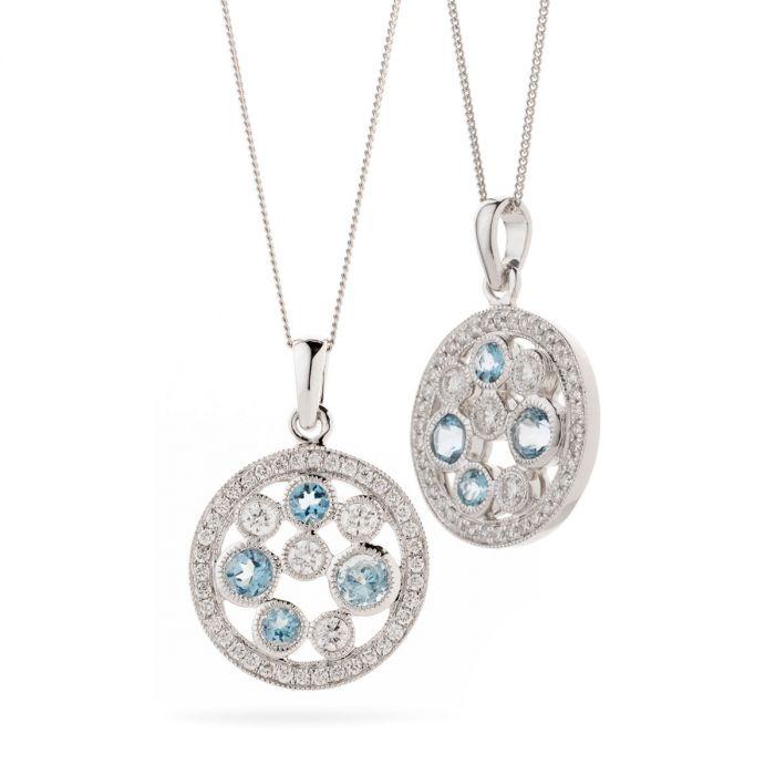 Knitted Design Diamond Pendant