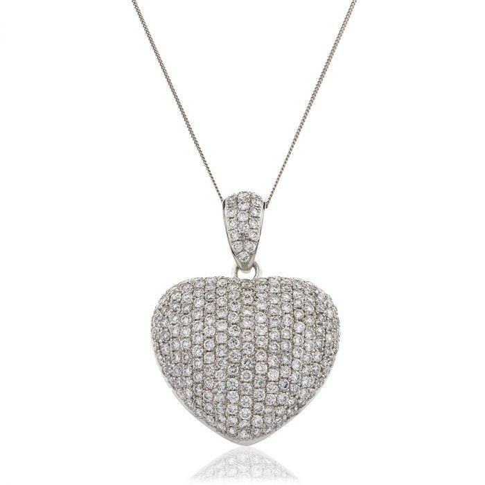 3.00ct Classic Round Diamond Heart Pendant