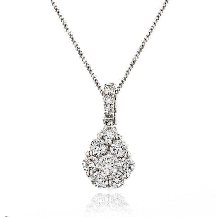 Medium Pave Set Diamond Pendant