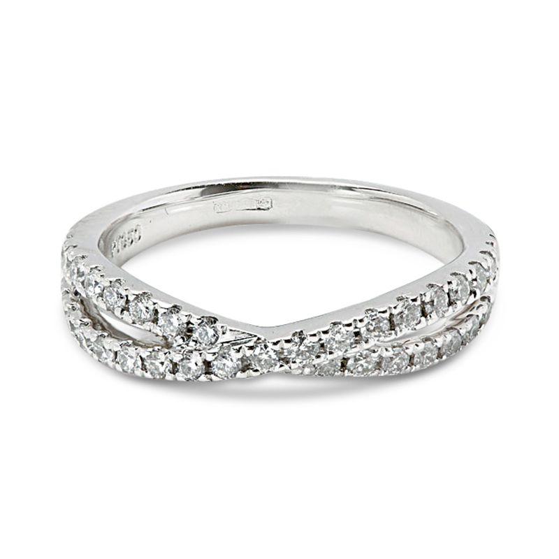 Dubble Cross Diamond Wedding Ring