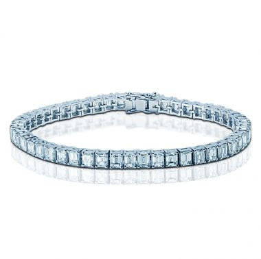 9 Carat Emerald Diamond Tennis Bracelet