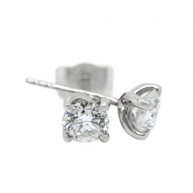 18kt White Gold Four Claw Twist 0.50ct Total Diamond Earring Studs