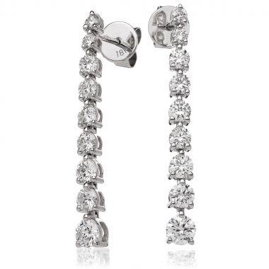 1.2ct 22mm Diamond Drop Earrings