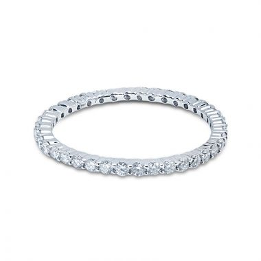 1.2mm Diamond Eternity Ring Claw Setting