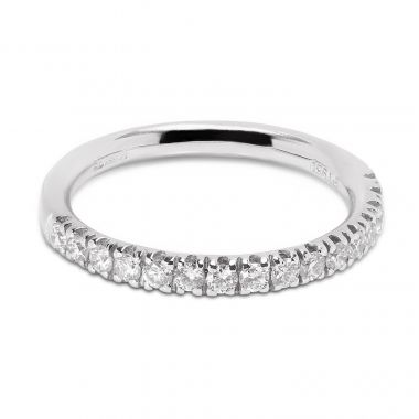 Classic 2.3mm Micro Ring Half Band Diamond Wedding Ring