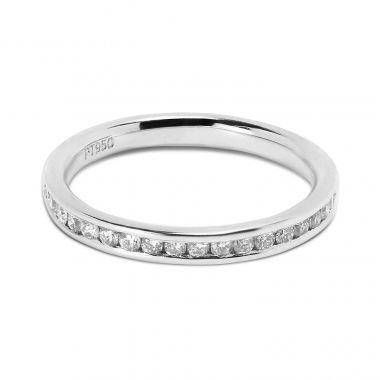 Classic 2.4mm Channel Setting Half Band Diamond Wedding Ring