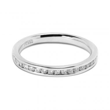 Classic 2.4mm Channel Setting Half Band Diamond Wedding Ring
