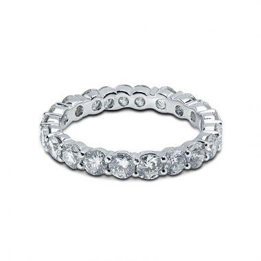 3mm Diamond Eternity Ring Claw Setting