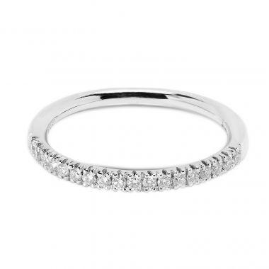 Classic 2mm Micro Ring Half Band Diamond Wedding Ring