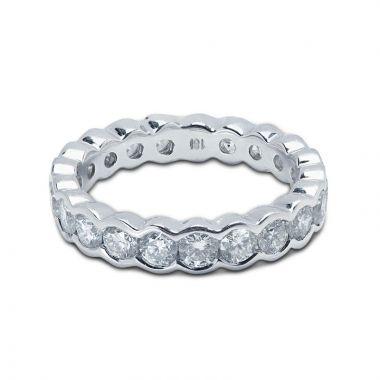 4mm Rubover Setting Full Diamond Eternity Ring 2.00ct