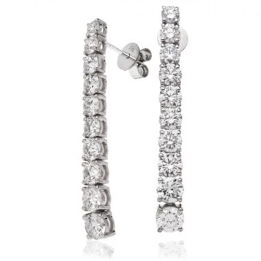5ct 43mm Diamond Drop Earrings