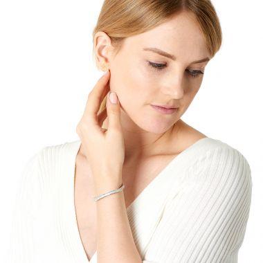 9 Carat Baguette Cu Diamond Tennis Bracelet Model