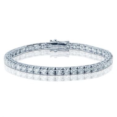 7 Carat Emerald Diamond Tennis Bracelet