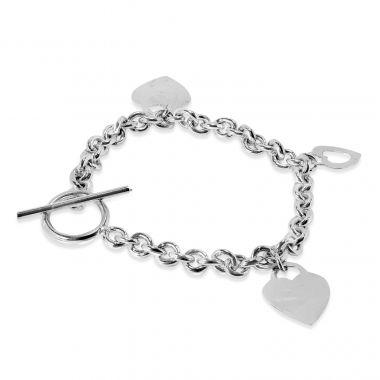 9ct White Gold Charm Bracelet 19gm