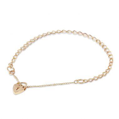 9ct Yellow Gold Charm Bracelet 3.2gm