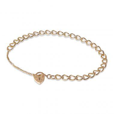 9ct Yellow Gold Charm Bracelet 7.2gm