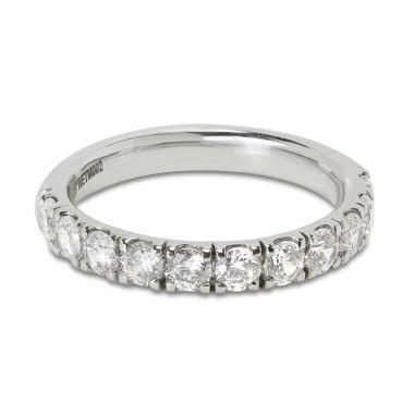 Classic 3mm Micro Setting Half Band Diamond Wedding Ring