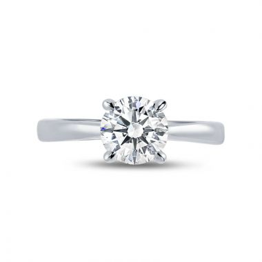 Four Claw Solitaire Diamond Engagement Ring Top View