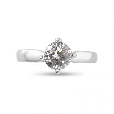 Four Claw Solitaire North East South West Engagement Ring Top View