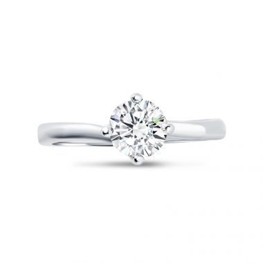 Four Claw Twist Setting Diamond Engagement Ring Top View