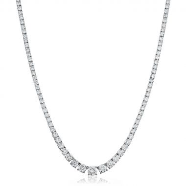 Graduating 7ct Diamond Necklace