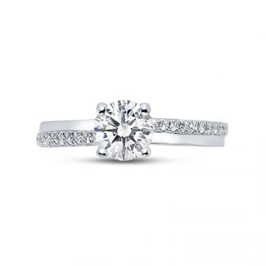 Promise ring Round Diamond Engagement Ring top view