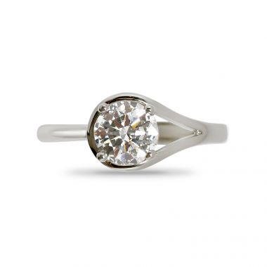RubOver Setting Diamond Engagement Ring Other Top View