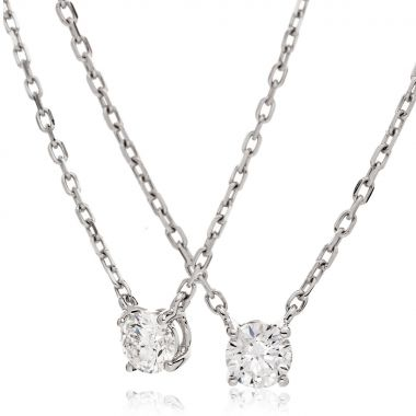 Half Rubover Diamond Pendant
