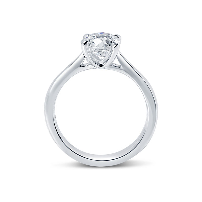 Floating Solitaire Diamond Engagement Ring